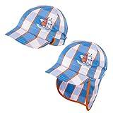 Galeja TuTu by Jungen Schirmmütze mit Nackenschutz Blau Gr. 48/50 UV-Schutz 30+ Sommermütze Kindermütze