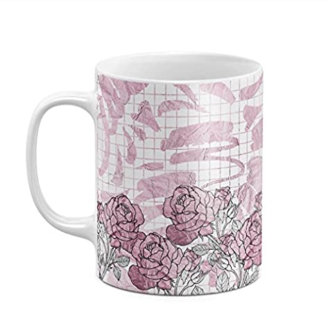 Rose Gold Rose Blossoms 11 ounce Ceramic Tea Coffee Mug