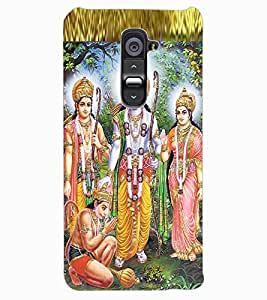 ColourCraft Lord Ram Laxaman Janaki and Hanuman Design Back Case Cover for LG G2