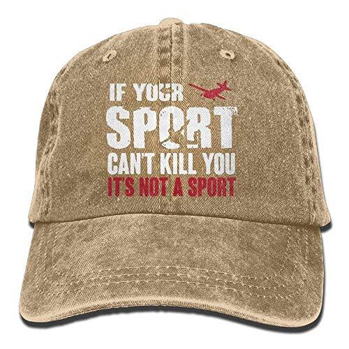 Wdskbg Unisex-Baseballmütze Fallschirmspringen Wenn Ihr Sport Sie Nicht töten kann, ist es Keine Sportmütze Multicolor89