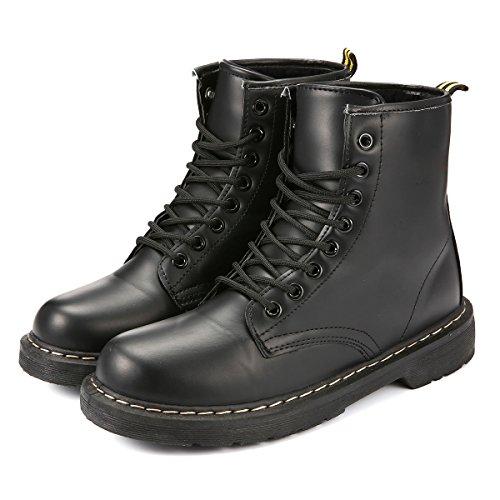 Gracosy Mujer Unisex Botines Invierno Impermeable Zapatos de Nieve Fur Calentar Botines Planos Lana...