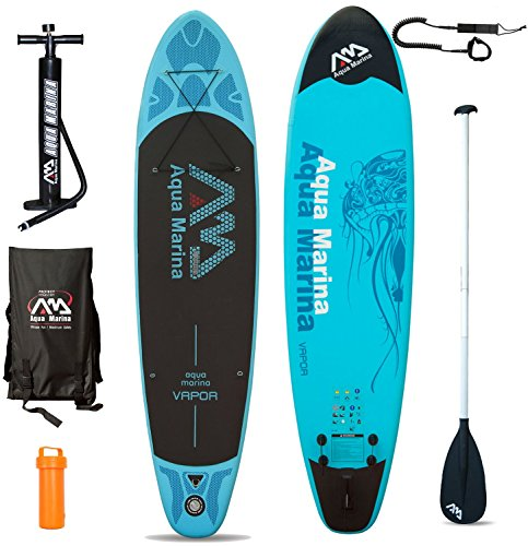 Aqua Marina Vapor SUP Inflatable Stand Up Paddle Surfboard Model 2016 - Board+ Paddle and Lead