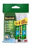 Scotch 6221P2+1, colla stick Standard Promotion, senza solventi, 21 g, 3 pezzi