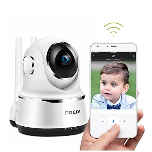 Wireless Camera, FREDI Wifi IP Camera 720P Home Surveillance Security Camera, Baby Monitor with P2P, Motion Detection Alert, Two-Way Audio & Night Vision 51DMAsS5I5L