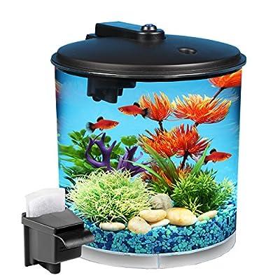 Kollercraft API Aquaview 360 Aquarium Kit with LED Lighting and Internal Filter