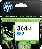 HP 364XL CB323EE Cartuccia Originale ad Alta Capacità, 750 Pagine, per Stampanti a Getto di Inchiostro Photosmart B210c, B110c, B110e, B8550, 7520, Deskjet 3520, 3522, 3524, Ciano