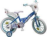 14 Zoll Kinderfahrrad Mädchenfahrrad Kinder Fahrrad Rad Disney Elsa Frozen die Eiskönigin Toimsa