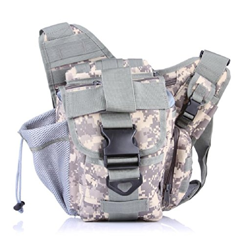 Z&N Backpack Multifunzione ventilatori militari sacchetti di sella tattici tasche tempo libero all'aperto spalla Messenger zaino zaino escursionisticoEOverall15L G