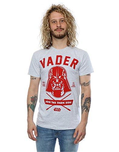 Star Wars hombre Darth Vader Collegiate Camiseta XX-Large cuero gris