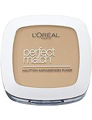 L'Oréal Paris Perfect Match Compact Puder, N4 golden beige, 1er Pack (1 x 9 ml)