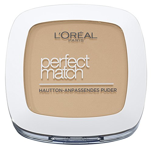 L'Oréal Paris Perfect Match Compact Puder, N4 golden beige, 1er Pack (1 x 9 ml) (Creme Match)