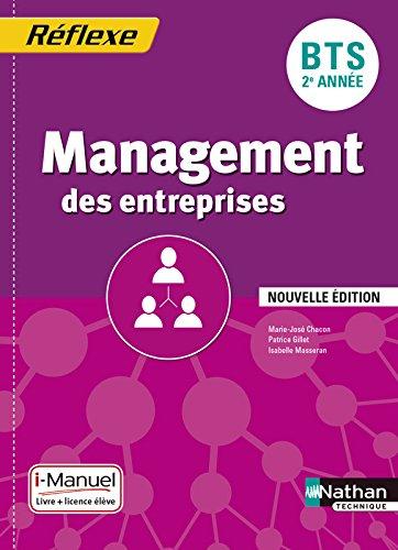 Management des entreprises BTS 2e année - Collection Réflexe par Marie-José Chacon