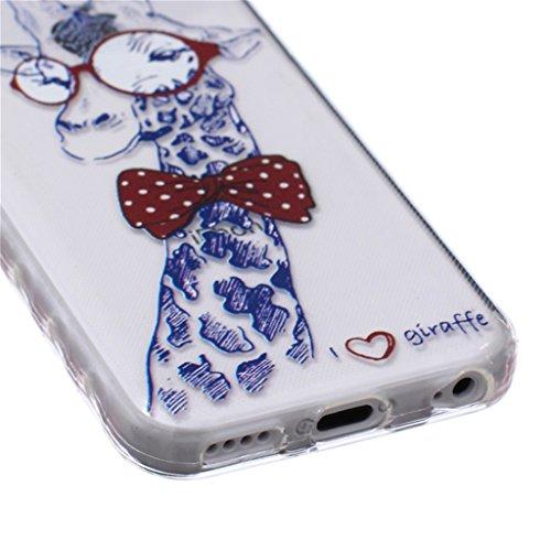 iphone 5C Coque, MYTH Doux Flexible - Beau Papillon Slim Silicone Ultra Mince TPU Bumper Protection Housse Pour iphone 5C Dessin animé Animaux