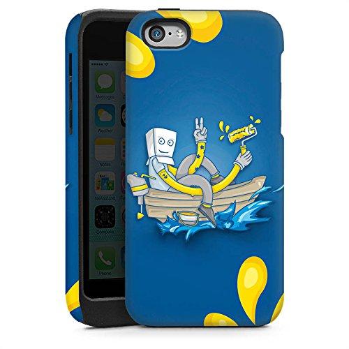 Apple iPhone 5s Housse Étui Protection Coque Bateau Eau Water Cas Tough brillant