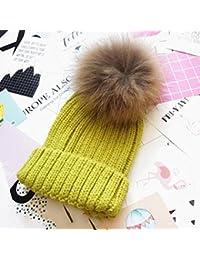 LR KDMN A Invierno Color sólido prensado Sombrero Tejido Además de  Cachemira Más Grueso Moda Mantener Caliente Frío Sombrero de… 3f5756aba66