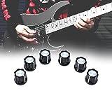 Broadroot 10PCS chitarra elettrica Bass potenziometro manopola tappi di plastica aluminum
