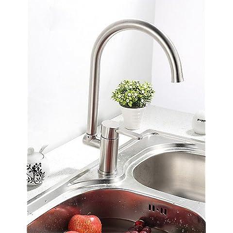 XMQC*0.5 installato sul ponte manico unico foro di un corpo solido in Acciaio Inox rubinetto di cucina K40CF23SS