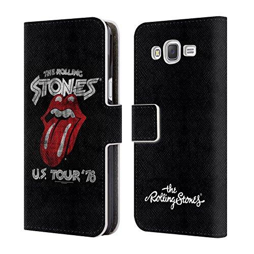 Offizielle The Rolling Stones Turn Us 78 Kunst Brieftasche Handyhülle aus Leder für Samsung Galaxy J5 / J500