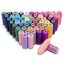 hamhsin Bobina de hilo de coser Surtido 60 colores 250 yardas cada juego de poliéster hilo