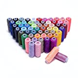 hamhsin Nähgarn Sortiment Coil 60Farben je 250Meter Polyester Gewinde Nähset alle Zweck, für Hand und Maschine Nähen