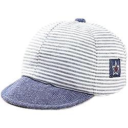 Leisial Rayas Gorra de Béisbol Bebé del Borde Suave Sombrero del Sol Verano  para Niño Niña c9a462f4728