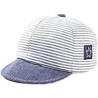 Leisial Rayas Gorra de Béisbol Bebé del Borde Suave Sombrero del Sol Verano para Niño Niña