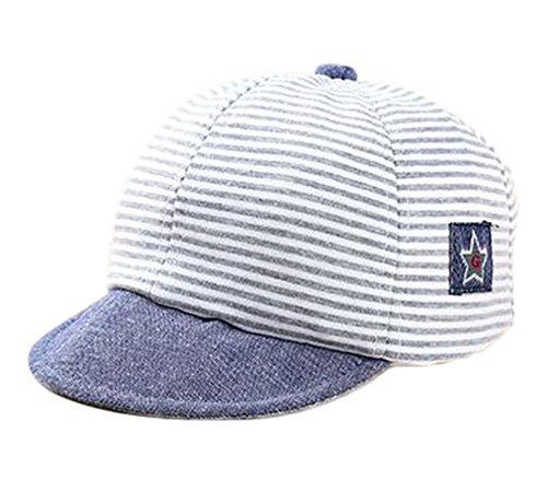 Leisial Kinder Baseball Kappe Baby Mütze für Baby Junge und Mädchen von 1-3 Jahren,Grau