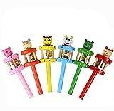 Tonsee 1 PC Baby Spielzeug Cartoon Tiere aus Holz Handglocken Entwicklungsstörungen Musikinstrument for 0-3 Baby