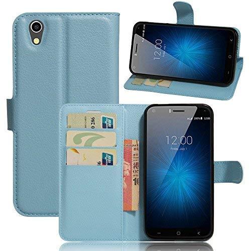 UMIDIGI London 5.0 Zoll Smartphone Mappen Kasten, iBetter Premium PU Leder Mappen Kasten für UMIDIGI London 5.0 Zoll, (Einschließlich rücksichtsvoller Gestaltung des magnetischen Teils), Blau
