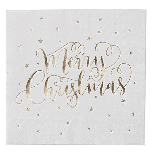 Metallic Star - Gold Foiled Merry Christmas Napkins (Merry Christmas Kollektion)