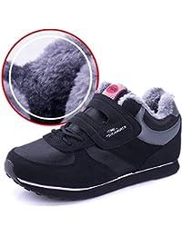 shoe Zapatos de Algodón de Invierno, Zapatos Deportivos de Mediana Edad, Más Zapatos de Algodón de Madre, Zapatos de Suela Blanda Antideslizante, Zapatos Abrigados,Negro,41