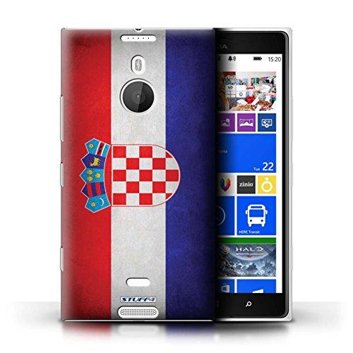 Coque en plastique pour Nokia Lumia 1520 Collection Drapeau - Finlande/finlandais Croatie