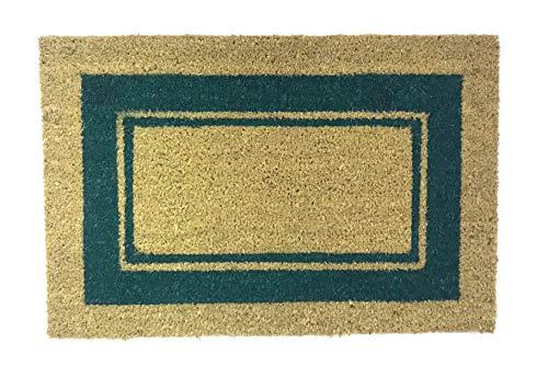 De'Carpet Felpudo Coco Cenefa Verde Económico Natural