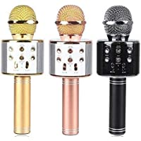 Gadgetbucket WS-858 Rechargeable Wireless Karaoke Bluetooth Microphone with Inbuilt Speaker with Audio recording for All IOS/Android Smartphone (Colour May Vary) (Mic WS-858)