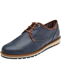 Salou M9j, Zapatos de Cordones Derby para Hombre, Azul (Nautic), 46 EU Pikolinos