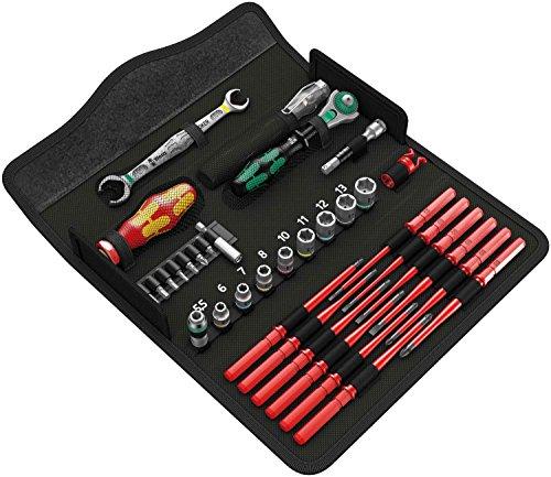 Wera 05135926001 KK W 1 Kraftform Kompakt W1 Wartung, Werkzeug-Set, 35-teilig, Schwarz, Stück