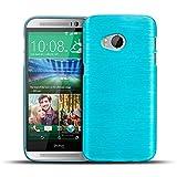 CoolGadget HTC One Mini 2 Hülle, Ultra Thin Brushed Cover Schlank Weich Flexibel Anti-Kratzer Schutzhülle Abdeckung Case, Silikon Cover für One Mini 2 - Blau