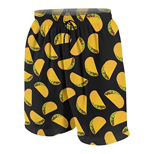 Pillow Socks Taco Pattern Boys Beach Shorts Quick Dry Beach Swim Trunks Kids Swimsuit Beach Shorts,Boys' Silver Ridge III Short XXL