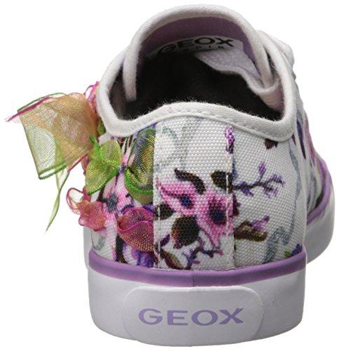 Geox J Ciak G B, Baskets mode fille Blanc (Whitec1000)