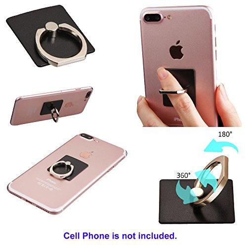 Passt Apple ZTE Samsung Universal Smart Handy Selbstklebend Ring Stehen-Schwarz. Passend für folgende Modelle: (Pcs Zmax Handys Metro)