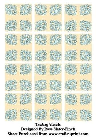 Blue Flower Tea Bag Sheet by Ross Slater-Finch