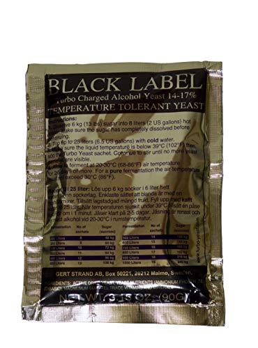 PRESTIGE Turbohefe Black Label 14% ❀ reintönig vergärende Edelhefe mit Hefenährsalz für die Obstbrennerei und Obstweinherstellung