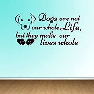 Decor Villa Dogs are not Wall Sticker & Decal (PVC Vinyl,Size -121 cm x 58 cm)