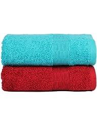 Casa Basics–2 toallas de secado rápido, yoga, gimnasio, viaje, camping, al aire libre, deportes–azul y rojo