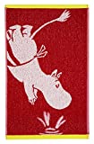 Finlayson Moominmamma Badetuch, 100% Baumwolle, dunkelrot, 140x 70x 4cm