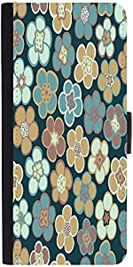 Snoogg Seamless Floral Pattern Flowers Texture Daisy Designer Protective Phone Flip Case Cover For Apple Iphone 6