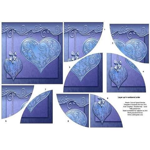 Corazones de curvas themawrap apiladora 2 por Mary Jane Harris