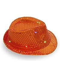 axusndas Cuffia da Ballo con Visiera a Trilby LED Cuffia da Ballo Leggera con  Cappuccio da 9d87e2eea472