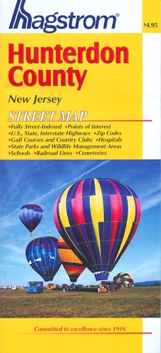 Hunterdon County Pocket Map NJ