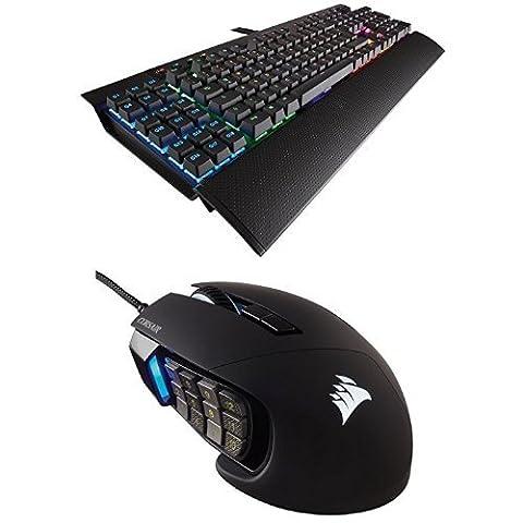 Im Set: Corsair K95 RGB Brown Tastatur + Scimitar RGB Gaming Maus